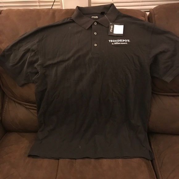 7acd92a0 Ping Collection Shirts | Bnwt Xl Black Polo Shirt Techdepot | Poshmark